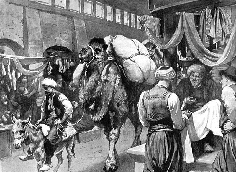 1897 - Maraş'ta İpek Pazarı