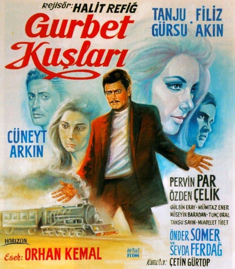1964 tarihli Gurbet Kuşları film afişi
