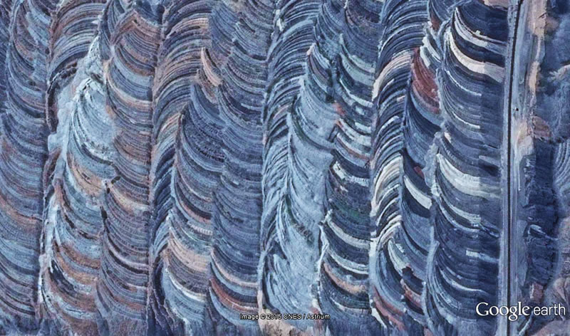 Afşin'de kilometrelerce uzanan kömür madeni