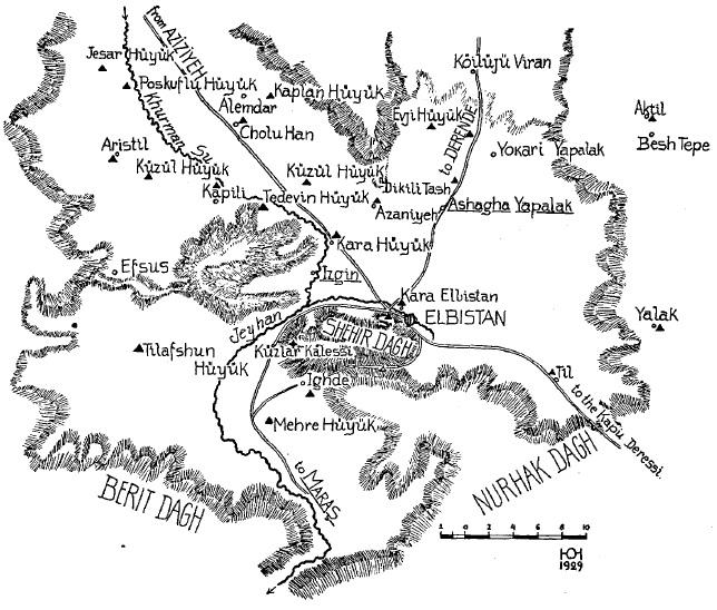 Von der Osten - 1929 - Elbistan Haritası