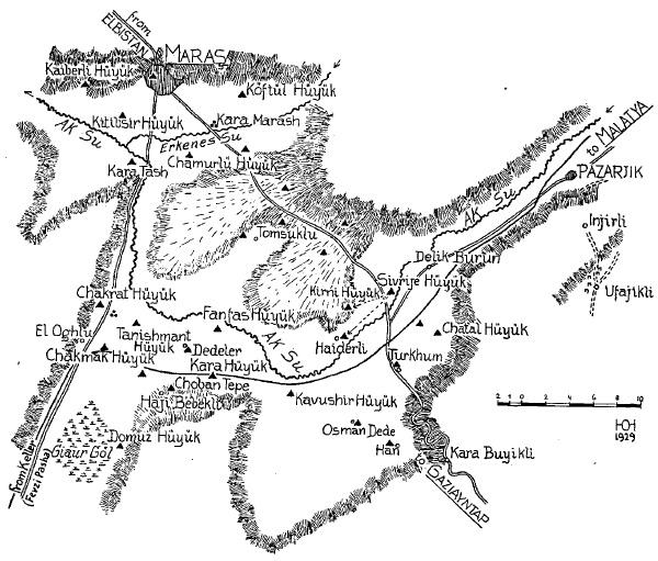 Von der Osten - 1929 - Maraş Haritasi