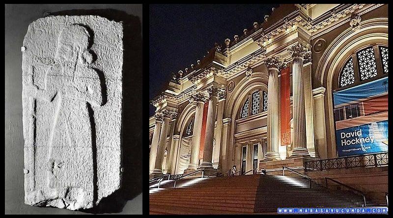 Maraş'tan götürlüp New York Metropolitan Müzesi'nde sergilenen Laramas Steli