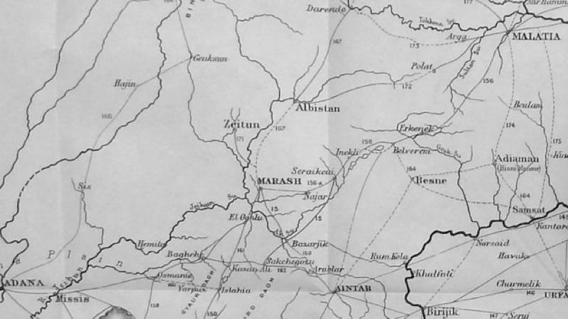 1904 Maraş Haritası - Maunsell