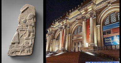 Metropolitan Müzesi'nde bulunan Maraş'tan götürülen rölyef parçası