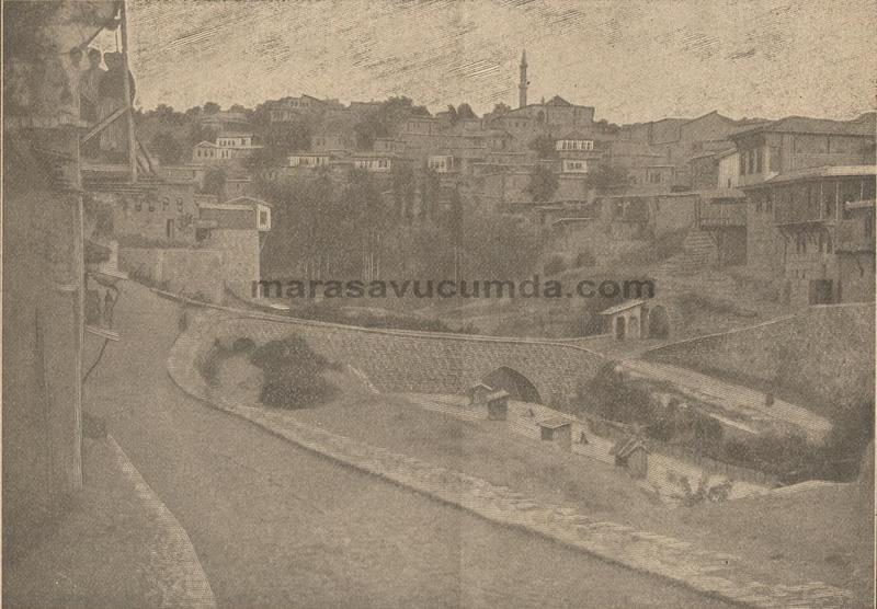 Kanlıdere Köprüsü'nün 1900 yılına ait yakın çekim görüntüsü