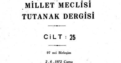 2 Haziran 1972 tarihli Millet Meclisi oturumunda, Cumhuriyet Senatosu'nda reddedilen Maraş adının Kahraman Maraş olarak değiştirilmesi kanun teklifinin yeniden görüşülmesi