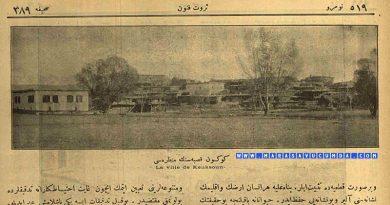 Servet-i Fünun Dergisinin 23 Şubat 1921 tarihli sayısında Göksun Manzarası