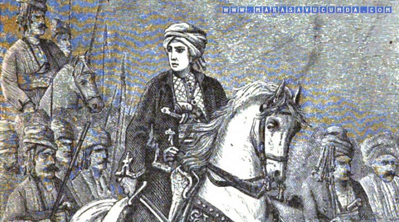 1881 tarihli Das Frauenleben der Erde kitabında at üstünde Kara Fatma portresi
