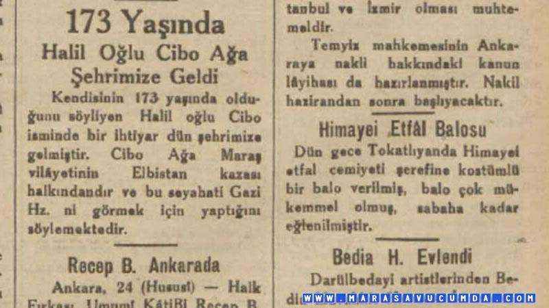 24 Şubat 1933 tarihli Son Posta gazetesinde Cibo Ağa haberi