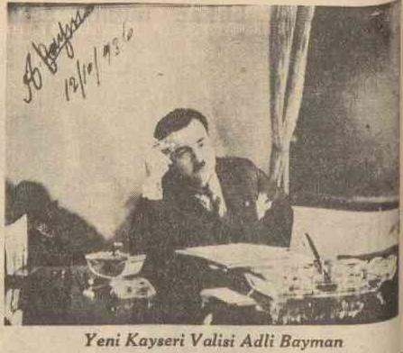 18 Ekim 1936 tarihli Cumhuriyet gazetesinde Mustafa Adli Bayman