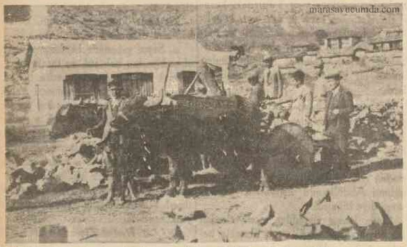 8 Ocak 1937 tarihli Cumhuriyet Gazetesi Eloğlu Pansiyonlu Köy Mektebi haberi