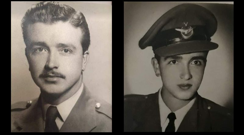Şehit Pilot Yüzbaşı Aziz Aksüt'ün Hava Harp Okulunda ve Görevdeyken gösteren iki portre