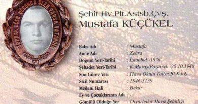 Şehit Pilot Astsubay Çavuş Mustafa Küçükel
